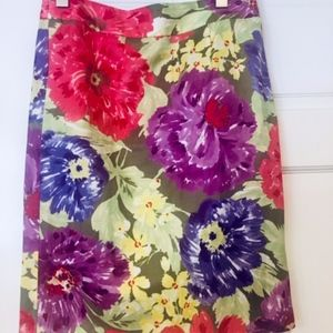 Floral Banana Republic Skirt